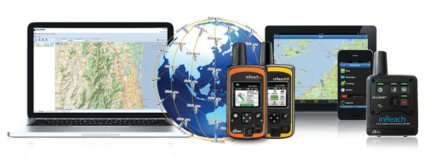 inReach™ Device / Iridium Satellite Grid / Smartphone and Tablet