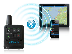 inReach™ Device connecting to devices via bluetooth.