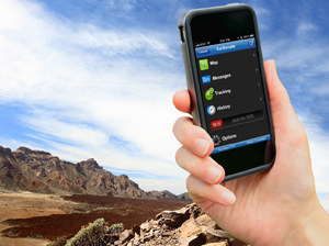 Smartphone running the Earthmate App.